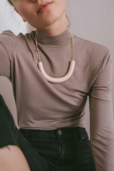 Cylinder Necklace - C A C T O
