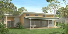single story skillion roof house plans - Google Search