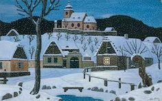 Josef Lada (December Hrusice - 14 December Prague) was a Czech painter, illustrator and writer. Cool Pictures, Funny Pictures, Grandma Moses, Naive Art, Inspirational Books, Children's Book Illustration, Favorite Holiday, Illustrators, Folk Art