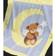 CROCHET Baby Blanket / Afghan pattern - Angel Bear Crochet pattern by Pattern World