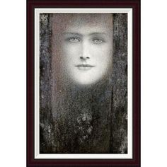 Global Gallery The Mask, with a Black Curtain by Fernand Khnopff Framed Painting Print