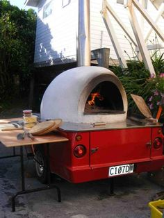 Mobile pizza oven....