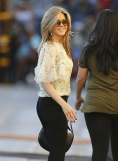 Jennifer Aniston is seen at 'Jimmy Kimmel Live' on November 24, 2014 in Los Angeles, California