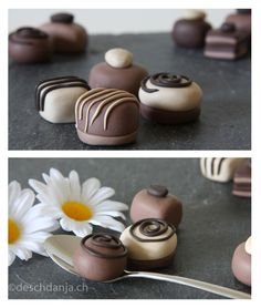 Chocolates out of polymer clay. www.deschdanja.ch