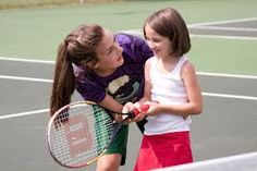 Free Tennis Lessons in the UK  This method for teaching kids tennis in the UK is popular because it involves a very low investment, for all those that love to play tennis