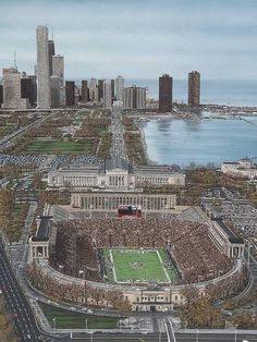 Buy Art For Less Chicago's Soldier Field Artwork by Darryl Vlasak Photographic Print on Wrapped Canvas Chicago Usa, Chicago City, Chicago Skyline, Chicago Illinois, Chicago Bears, West Chicago, Chicago Travel, Soldier Field, Places Around The World