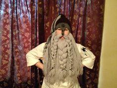 Crochet Viking Dwarf Helm and Beard Ready to by LegendaryCrafts, $80.00