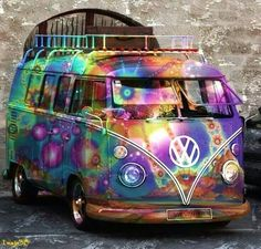 Psychedelic Paintwork fits the Kombi down to the ground.