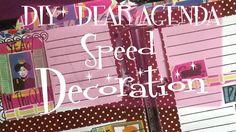 DIY*DEAR AGENDA #4 Speed  decoration Neon Signs, Decoration, Youtube, Diy, Decor, Bricolage, Do It Yourself, Decorations, Decorating