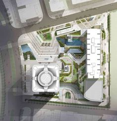 Nanning Logan Century by Dennis Lau and Ng Chun Man Architecture & Engineers (HK) Limited (DLN) in Nanning, China Plans Architecture, Architecture Graphics, Landscape Architecture, Site Development Plan Architecture, Cv Photoshop, Plot Plan, English Garden Design, Landscape Design Plans, Site Plans