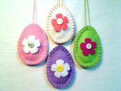Easter Decor..Easter Egg Ornaments..Felt Egg por byEmilie11 en Etsy, $11.99