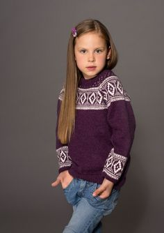 Genser Knitting For Kids, Color Combinations, Knitting Patterns, Turtle Neck, Embroidery, Children, Sweaters, Fair Isles, Colour