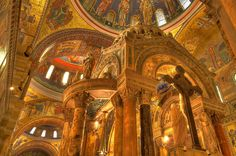 cathedral basilica of saint louis - If ever in st louis, this is a must see.  -- In 1912, installation of mosaics in the interior began. Completed in 1988, the mosaics collectively contain 41.5 million one inch glass tesserae pieces in more than 7,000 colors. Covering 83,000 square feet, it is one of the largest mosaic collections in the world.