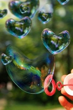 I love blowing bubbles or using unique bubble-makers! Heart Bubbles, My Bubbles, Blowing Bubbles, Colored Bubbles, Rainbow Bubbles, I Love Heart, With All My Heart, Love Is All, Happy Heart