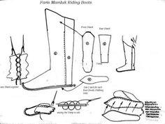 Mamluk riding boot pattern
