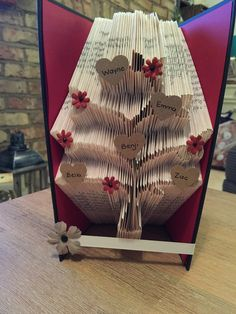 Family Tree Origami Book Fold Art by Bellaspapercrafts on Etsy