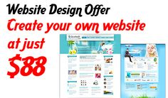 Create your own website at just $88.