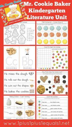 Kindergarten Literature Unit Printables ~ Mr. Cookie Baker {free}