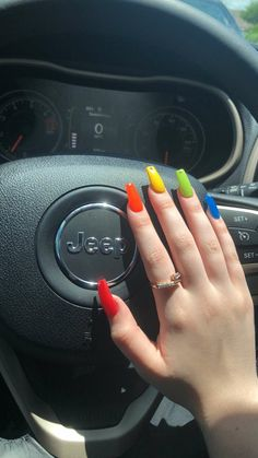 Embellishing your nails is usually a lot of fun. It'll make a fashion statement. Explore the most recent trends and designs to keep you up-to-date. Simple Acrylic Nails, Summer Acrylic Nails, Best Acrylic Nails, Acrylic Nail Designs, Edgy Nails, Hot Nails, Stylish Nails, Acylic Nails, Broken Nails