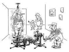 When mechanical engineers want to change a light bulb...