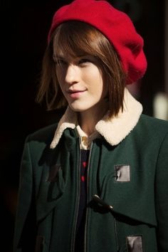 Super-cute as this beret is, if we had hair that gloriously, shiny we wouldn't be covering it up.