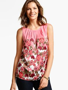 Climbing Floral Shell Top - Talbots