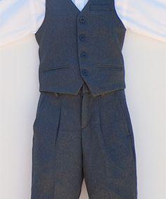 Charcoal Boys Vest Suit #boyssuit #vestsuit #kidsuit #boysvestsuit #kidsvestsuit #charcoalsuit #charcoalboyssuit #boysvintagesuit #boysretrosuit