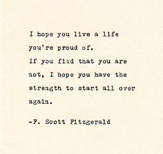 Inspirational Quote THE F. SCOTT FITZGERALD - Quote Made On Cardstock with Vintage Typewriter quotes quotes deep quotes funny quotes inspirational quotes positive Book Quotes Love, Quotes Dream, Life Quotes Love, Quotes To Live By, Quotes About Hope, Great Gatsby Quotes, Best Literary Quotes, Proud Of You Quotes, Best Quotes From Books