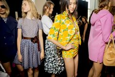 Michael Kors Spring 2015 backstage. Photo by Kevin Tachman.