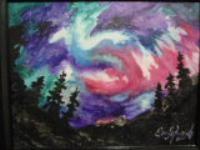 Aurora B. no.1 watercolor and acrylic , 2000 14x18 L. Stilnovich