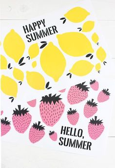 Make mealtime more fun with these adorable Free Printable Summer Placemats
