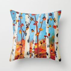 Hey, I found this really awesome Etsy listing at https://www.etsy.com/listing/247794228/birch-tree-pillow-blue-pillow-red-pillow