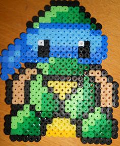Baby Mutant Ninja Turtle - Perler or Hama by ~Chrisbeeblack