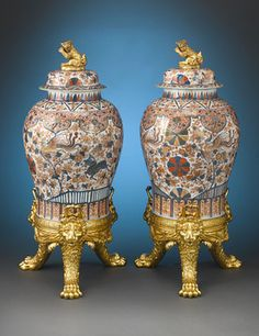 Incredible rarity and size make this stellar pair of late 17th-century Chinese Imari porcelain jars truly remarkable. Circa 1680 ~ M.S. Rau Antiques