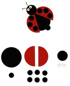 Coccinelle Plus - Photo Summer Crafts For Kids, Spring Crafts, Diy For Kids, Ladybug Crafts, Ladybug Party, Felt Crafts, Diy And Crafts, Paper Crafts, Punch Art