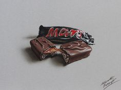 Watch on YouTube how to draw a Mars chocolate bar http://youtu.be/HTZ6wStWW6s (HD video)