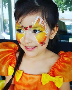 Applejack inspired butterfly  #mylittlepony #applejack #birthdayparty #wolfe #facepaint #sandiego #facepainter #facepainting #ninamariedesigns