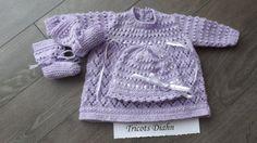 0 - 3 mois  3 pièces lilas sur Etsy.com/shop/TricotsDiahn   MISTY(patron precious newborn knits Etsy.com uk-shop)