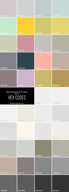 42 Web Color Palette Ideas + Hex codes | This is what a clean designed website would need!: