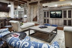 Living Space, Breakfast Bar, Hill Country Modern in Austin, Texas
