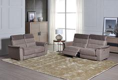 GOLDEV - Goldev est le salon en tissu idéal pour se détendre. Ce salon bicolore en tissu a des accents sur les têtières pour un style très chic ! Dépêchez-vous vite en magasin et découvrez-le vous-même | Meubles Nikelly