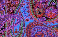 Westminster Fabrics Paisley Jungle Kaffe Bassett(purple)