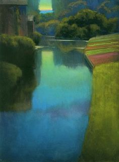 Ian Roberts Dusk at Contevoir | Paintings/Photography/Prints