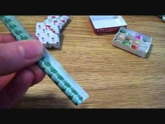 How To Make Miniature Dollhouse Christmas Wrapping Paper Rolls