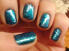 My Nail Polish Is Poppin: Metallic Aqua and Caught on Sapphire