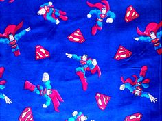 Superman fabric comic book style with blue background. by JeAdore, $7.50