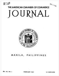 "Journal, a publication of the American Chamber of Commerce of the Philippines. was founded in 1920. Luis G. Dato's letter to the editor was printed in the ""LETTER"" section of the November 1940 issue. It reads: Journal. [1940]American Chamber of Commerce of the Philippines. Luis Dato-A JOURNAL subscriber in the Bikol region. ""I was happy... Training Manager, Letter To The Editor, Denial, I Am Happy, Philippines, November, Peace, Journal, Lettering"