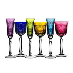colorful stemware | ... Glassware Shop by Brands Varga Art Crystal Imperial Colored Stemware