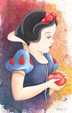 """Before the Bite"" By Michelle St. Laurent - Original Disney #SnowWhite #DisneyFineArt"