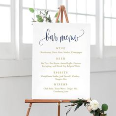 While we love a good chalkboard menu as much as the next girl, how amazing and different is this printed bar menu! Easy to order, print, and read - it checks all the boxes while also being classy and affordable! Cheers! Search the website for: Wedding Bar Menu Print